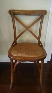 3 Cafe / Dining / Wedding Venue Cross Back Chairs