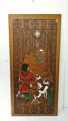 Antique Painting Panel Wood Painting
