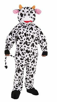 Mascot Cow Adult Halloween Costume Black White Milk Fun Soft Plush Standard Size - Adult Cow Halloween Costume