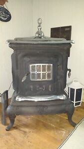 Woodstove with Chrome Accents