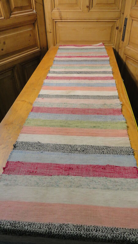 Rag Rug Vintage European Hand-Woven Carpet Rug  10 Ft x20