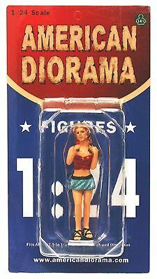 "LOOK OUT GIRL MONICA AMERICAN DIORAMA 1:24 Scale Figurine 3"" LADY FEMALE Figure"