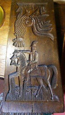 Spekulatiusbrett Spekulatiusform Holz beidseitig handgeschnitzt 29x13 cm 19. Jh.