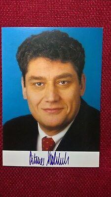 Autogramm von Dr. Ditmar Staffelt (Politik), Farbbild, Postkartengröße