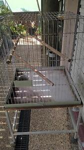 Parrot large bird cage and stand on wheels Carina Brisbane South East Preview