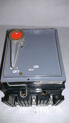 Used FPE NEF431050R  50 amp 480 volt breaker with handle