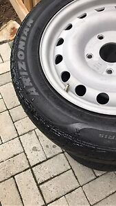 Set of 4 tires. 185/75 R15