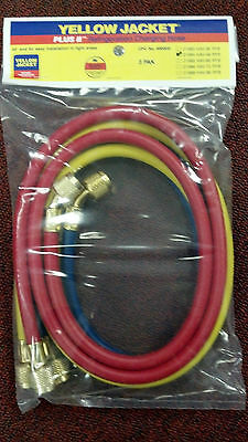 Yellow Jacket Charging Hose Set 48 Yellow Blue Red Part 21984