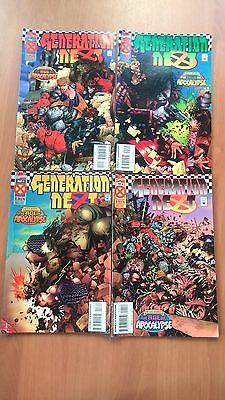 X MEN DELUXE GENERATION NEXT  #1 -2-3-4 March 1995 MARVEL COMICS