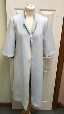 Jayley Pale Blue Suede Effect Coat Jacket Trench Grey Size L-XL 14 16 BNWT £110