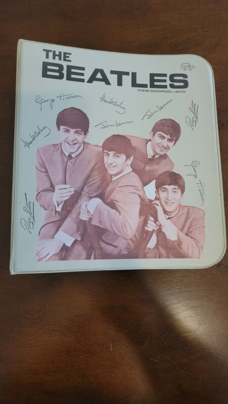 1964 ORIGINAL The BEATLES 3 RING BINDER NEMS