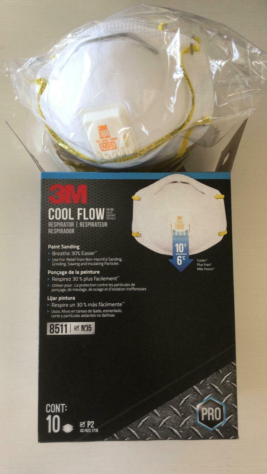 3 Pack Cool Flow 8511 PRO  N95 Grade 95 - EXP 01/25