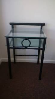 Black metal and glass bedside table Hope Island Gold Coast North Preview
