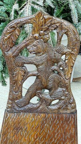 Black forest vintage wood carved child
