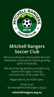 Mitchell Rangers Soccer Club – Players wanted