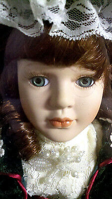 PORCELAIN BISQUE VICTORIAN COLLECTOR'S CHOICE GIFT DOLL VELVET GOTHIC NEW IN BOX