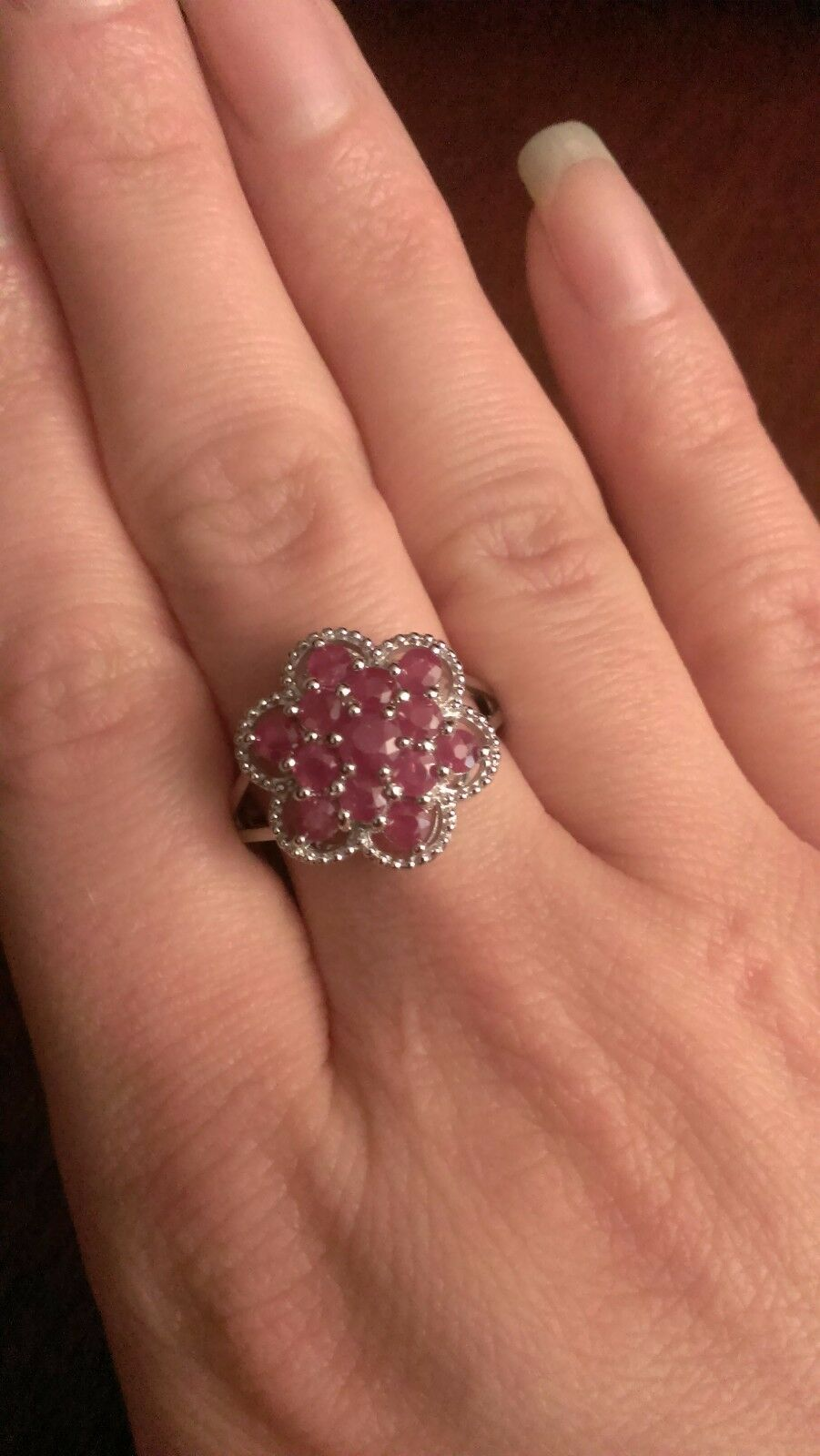 .22CT Ruby Ring Sterling Silver Natural Red July Birthstone Size 4 5 5.5 6 7 8 9