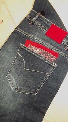 Marco Pescarolo Naples by Kiton Jeans Logo Denim Size 40 54 320,00 -SHLINE-711