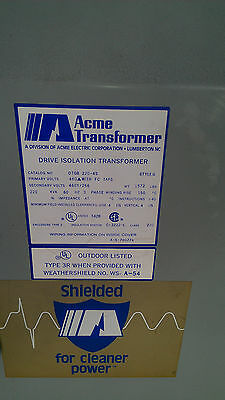 Acme 220 Kva Drive Isolation Transformer Style G Dtgb 220-4s