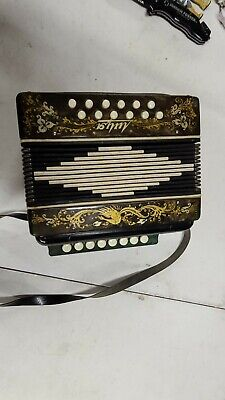 Vintage Russian HOMA? BUTTON ACCORDION HARMONIC COLLECTIBLE MUSICAL INSTRUMENT