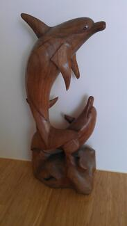 Timber carvings turtle dolphins various Cleveland Redland Area Preview