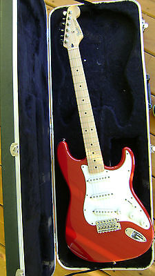 1996 Fender Standard Stratocaster Candy Apple Red  Maple Neck Near Mint W/Case on Rummage