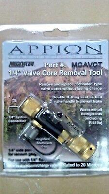 Appion Mega-flow Valve Core Removal Tool Vacuum Charging Valve 14