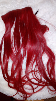 Red (real) hair extensions