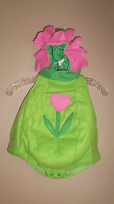 BABY SO CUTE DAZZELING BABY FLOWER PINK COSTUME DRESS UP AMERICA 6 12 MONTHS - Flower Baby Costume