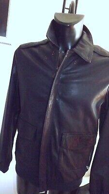 Roy ROGER'S Jacket Nappa Leather Blue Tassel Size 50 580,00 Tag sh1232