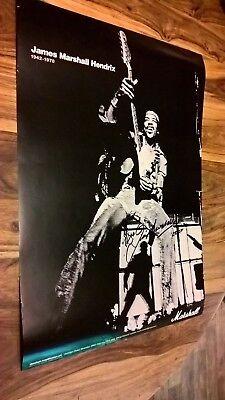 "Jim Marshall OBE signed autograph Jimi Hendrix 2007 Poster Marshall Amp 23x16.5"""