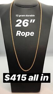 "26"" Rope Chain (heavy durable)"