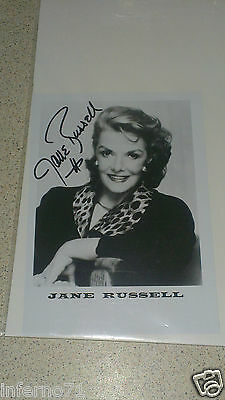 Jane Russell Gentlemen Prefer Blondes Autograph Photo