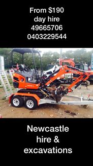 HIRE ME EXCAVATOR $190 day bobcat tipper loader trencher auger tools  Thornton Maitland Area Preview