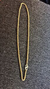 24k gold rope chain