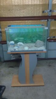Crazy crab tank, fish tank, on a stand with shelves Baldivis Rockingham Area Preview