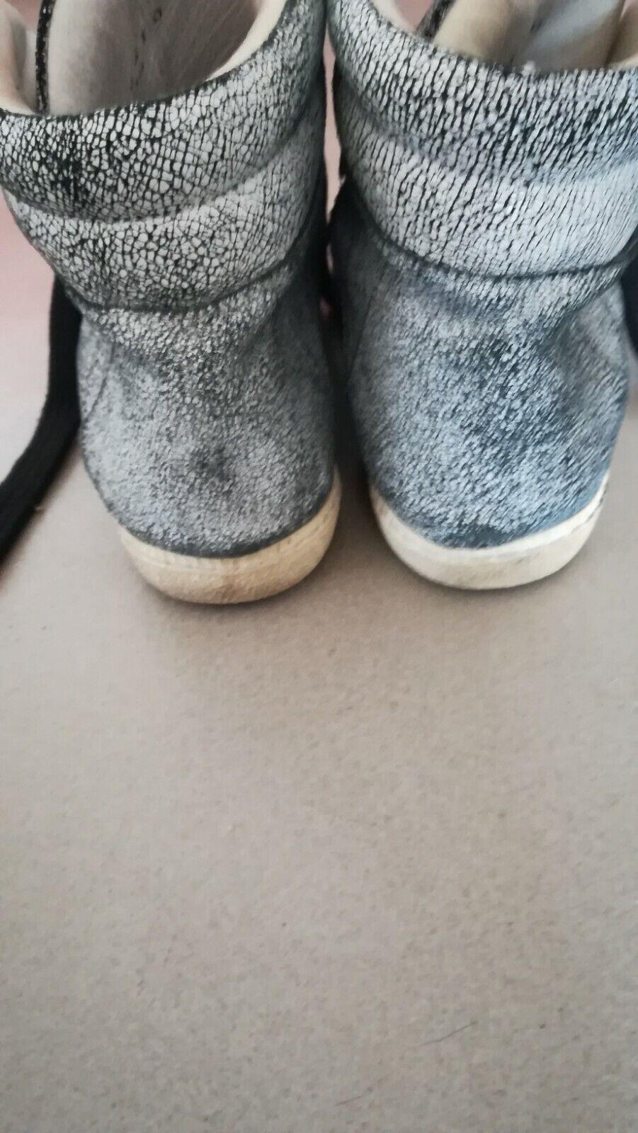 Baskets montantes femme occasion sandro grise pointure 38