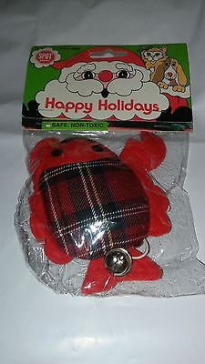 SPOT ETHICAL HOLIDAY LOBSTER PLAID RING TEASER CAT TOY BELL CATNIP.FREE SHIP USA - Lobster Catnip Toy