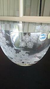 Gorgeous Bohemia Crystal Bowl, 'Paris' flower design, never used Morayfield Caboolture Area Preview