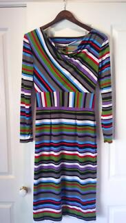 Stripey stretch dress size small
