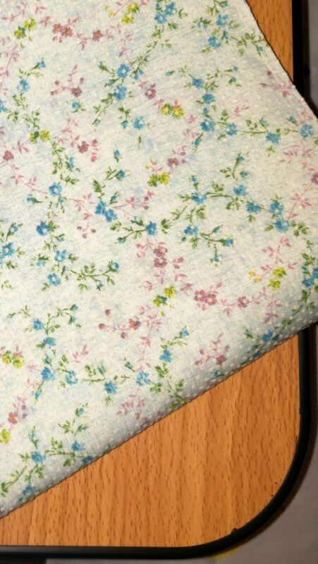 Vintage Flocked Dot Flower Fabric