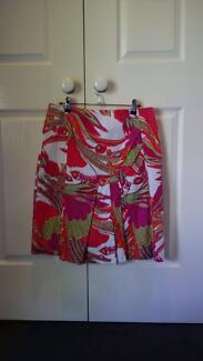 Topaz pink patterned skirt size 12