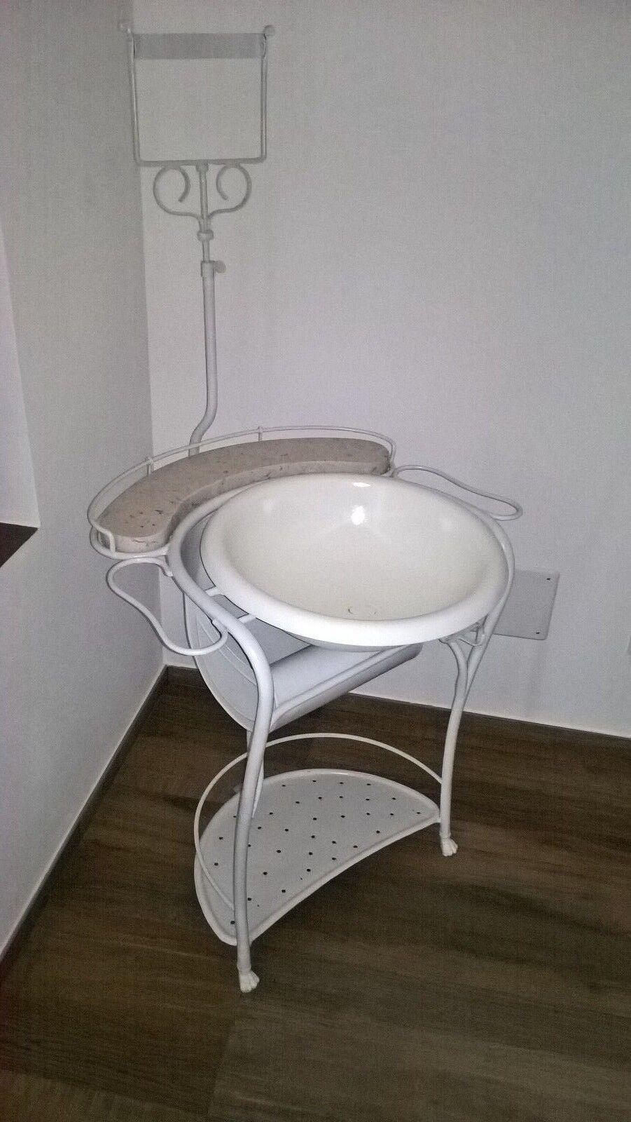 Lavatoio bagno toilette in ferro battuto fine 39 800 - Bagno ferro battuto ...