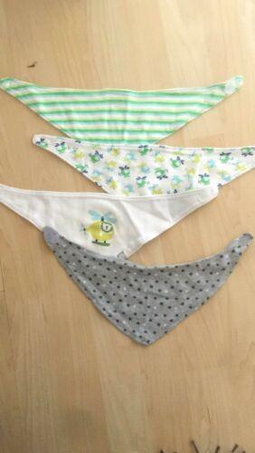 4x Dreieckstücher Baby Lätzchen Halstuch unisex Spucktuch Sabberlatz