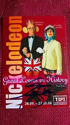 Original-Autogramm von Mark Britton, Farbbild-Karte, Postkartengröße
