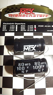 2- Mtx Audio Thunderstuff Electrolytic Capacitors 80 Mfd 100v