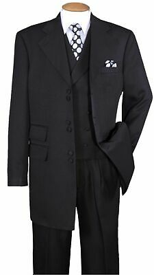 Fashion Zoot Suit (New Men's High Fashion Zoot Suit With Vest Two Side Vents 35