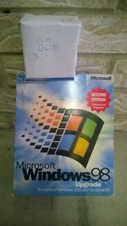 windows software 3.1, 95 upgrade to 98 second edition