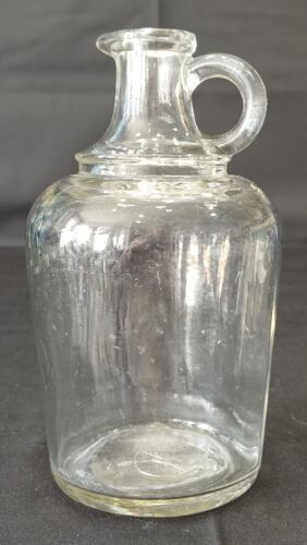 Vintage Syrup Jug Clear Glass