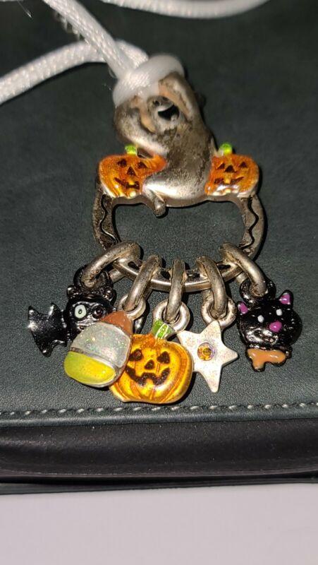 AJMC Halloween Necklace Ghost Pumpkin Candy Corn Cat Kitty